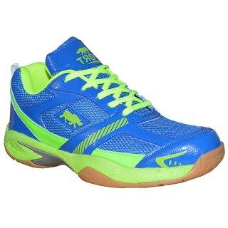 Port Python Blue Badminton Shoes for men