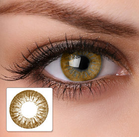Magjons Brown Color Contact Lens Pair With 80 ML Solution