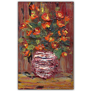 WallsnArt Still life Canvas Gallery Wrap Painting