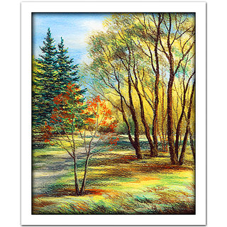 WallsnArt Seasons  Scenic  nature Framed without Glass Painting
