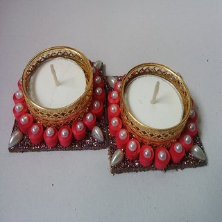 Quilling Candle Holder set of 2