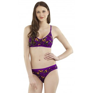 7dbd68f636 Buy Madam Women s Floral-Print Non-Padded Bra Panty Set Online ...
