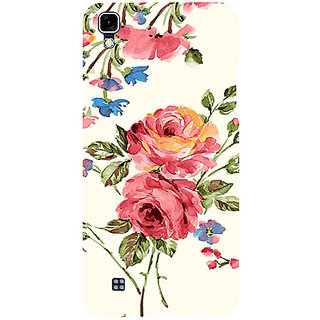 Casotec Vintage Painting Flower Design 3D Printed Hard Back Case Cover for LG X Power