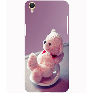 Casotec Cute Teddy Bear Design 3D Printed Hard Back Case Cover for Oppo F1 Plus