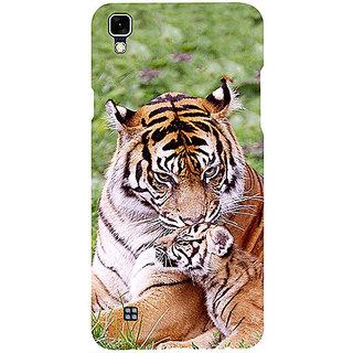 Casotec Tiger Design 3D Printed Hard Back Case Cover for LG X Power