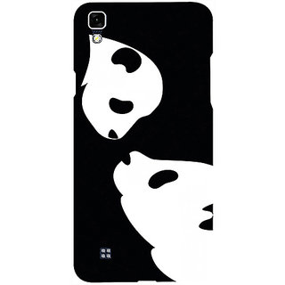 Casotec Panda Drawing Design 3D Printed Hard Back Case Cover for LG X Power