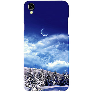 Casotec Snow Moon Clouds Design 3D Printed Hard Back Case Cover for LG X Power