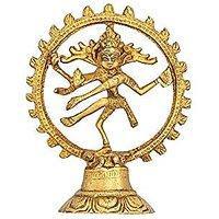 Gathbandhan God Shiva Natraj Statue - Handcrafted Brass Figurine Indian Art Sculpture - 6.5 X 5.5 X 1.5