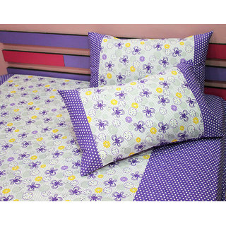 Flower  Circles Bedsheet with Pillow Covers