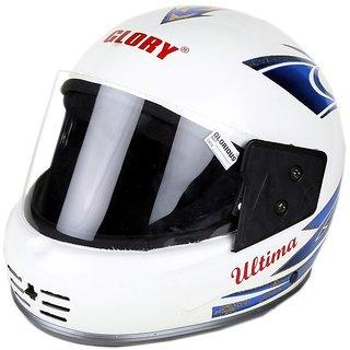 MPI Open Face Scooter Scooty Motorbike Black Helmet for Gents/Men - Full-STKR-wht