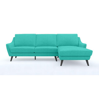 Fabhomedecor - Evelyn L Shape Sofabiegecolor