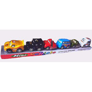 Mini Vehicle Toys pack of Six in One.