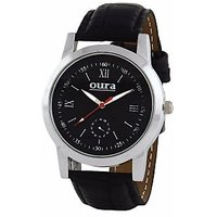 Oura WB-18 Round Black Dial Analog Watch For Men