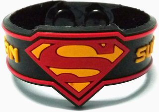 Superman embossed 20mm silicone wristband for men