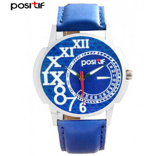 Positif Analog Blue Casual Watche For Men's Positif-0011