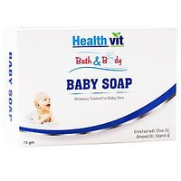 Healthvit Bath  Body Baby Soap (Olive, Vitamin E  Almond Oil) 75g