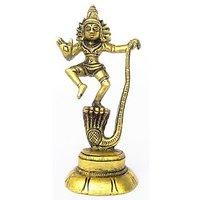 Kartique Kaliya Daman - Lord Krishna Dancing on the Hood of Kaliya Naga Statue