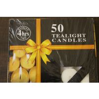 While Tea Light Candle Pack Of 50
