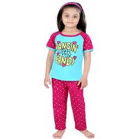 Punkster Blue Cotton Half Sleeve Night Suit For for girls price 2019 ... eb9b0214e
