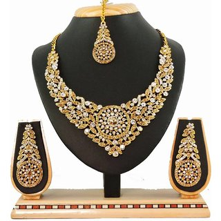 Vatsalya Creation Zinc Jewel Set (Gold Flower Design)