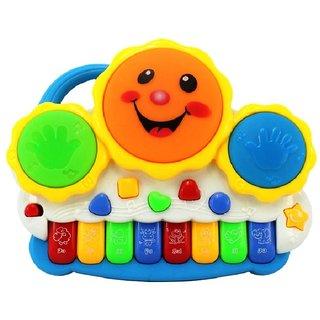 LJ Drum Keyboard Musical Toys With Flashing Lights, Animal Sounds  Songs - Bat