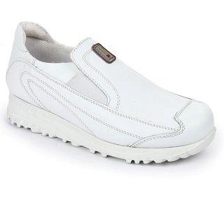 Liberty Force 10 Men White Slip On Sport Shoes