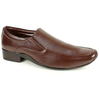 Liberty Fortune Men Brown Slip On Formal Shoes