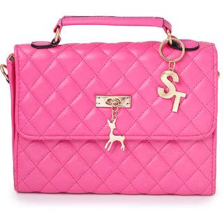 119501e561a4 Contemporary Handbags STC-068-PINK