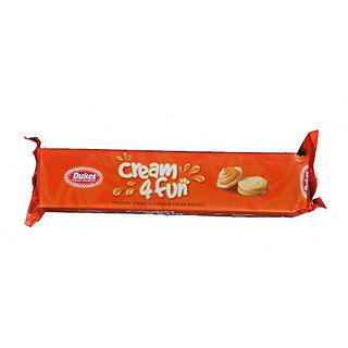Dukes Cream 4 Fun Biscuits Orange,  175 g