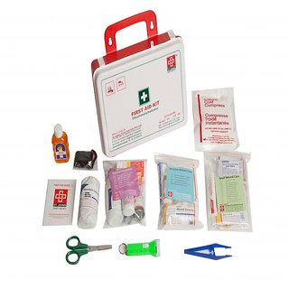 FIRST AID KIT - WORKPLACE KIT MEDIUM - PLASTIC BOX WALL MOUNTED - 81 COMPONENTS