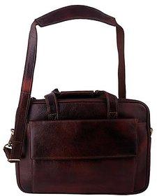 ZINT MEN'S PURE LEATHER LAPTOP BAG MESSENGER BAG / PORTFOLIO BAG / GIFT FOR HIM