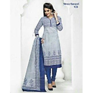 Shree Ganesh Cotton Suit (Unstitched)