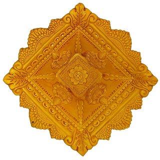 Craft Art India Handmade Earthen Clay / Terracotta Decorative Dipawali / Diwali Diya / Tealight / Oil Lamps for Pooja / Puja , Size(CM)4.5x16x16