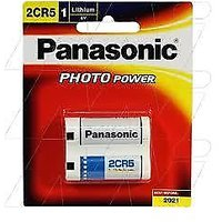 Panasonic 6-Volt Photo Lithium Cylinder Battery - 2CR5