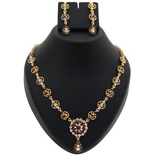 14Fashions Alloy Purple Ethnic Necklace Set