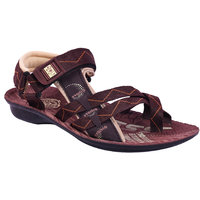AZTEC Unisex Brown Synthetic Leather And PU Floater Sandals (Size 6 UK/IND)