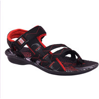 AZTEC Unisex Red Synthetic Leather And PU Floater Sandals (Size 6 UK/IND)