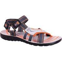 AZTEC Unisex Orange, Grey Synthetic Leather And PU Floater Sandals (Size 6 UK/IND)