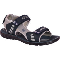 AZTEC Unisex Blue, Grey Synthetic Leather And PU Floater Sandals (Size 6 UK/IND)