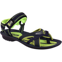 AZTEC Unisex Blue, Green Synthetic Leather And PU Floater Sandals (Size 6 UK/IND)