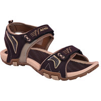 AZTEC Unisex Brown, Beige Synthetic Leather And Phylon Floater Sandals (Size 6 UK/IND)