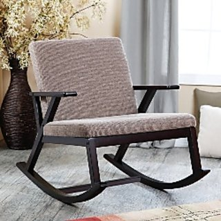 Lifeestyle Sheesham Wood Rocking Chair With Cushion