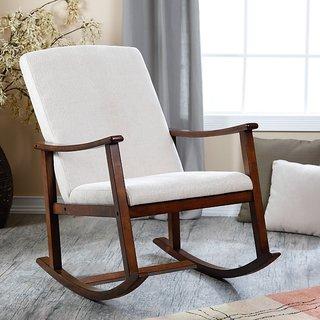 Lifeestyle Sheesham Wood Rocking Chair With Cushion