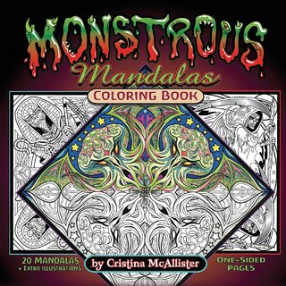 Monstrous Mandalas Coloring Book