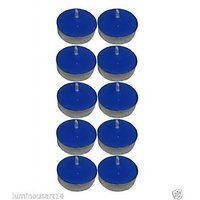 Scented Blue Tealight T-Lite Candles Smokeless Candle For Diwali Birthday Party Gift Christmas Candle Lighting Lamp Pack Of 40