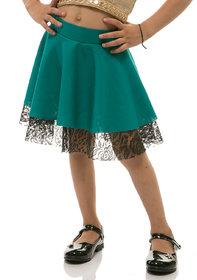 Rimsha green and black skirt for kids