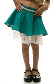 Rimsha green and white skirt for kids