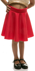 Rimsha red viscose flaired skirt for kids