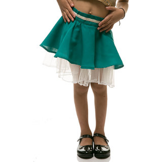 Rimsha green and white skirt for kids
