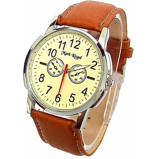 Mark Regal Brown Analog Wrist Watch For Men
